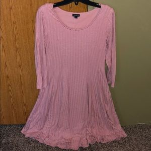 Light pink torrid sweater dress